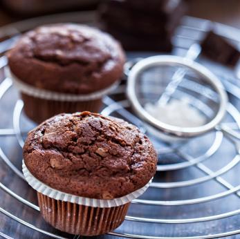 Schokoladen-Beeren-Chilli-Muffins ohne Milch 1