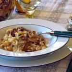 Pilzreis auf dem Teller