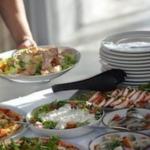 Fischbufett mit Aalsalat