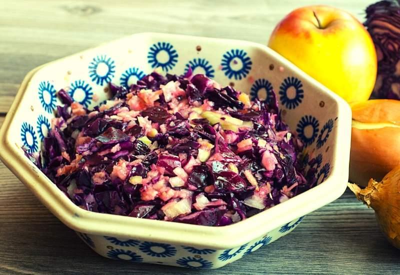 Rotkohl-salat-obst