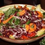 Salat rot und weiß