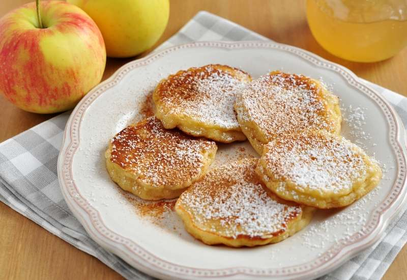Dinkel pfannkuchen apfel