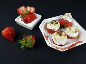 Frische Erdbeeren mit Marshmellow-Fluff
