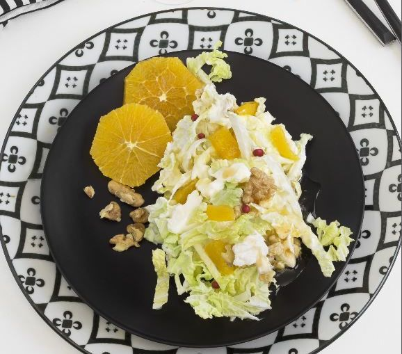 Chinakohl Salat mit Obst Rezept