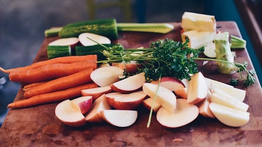 Karotten und Äpfel