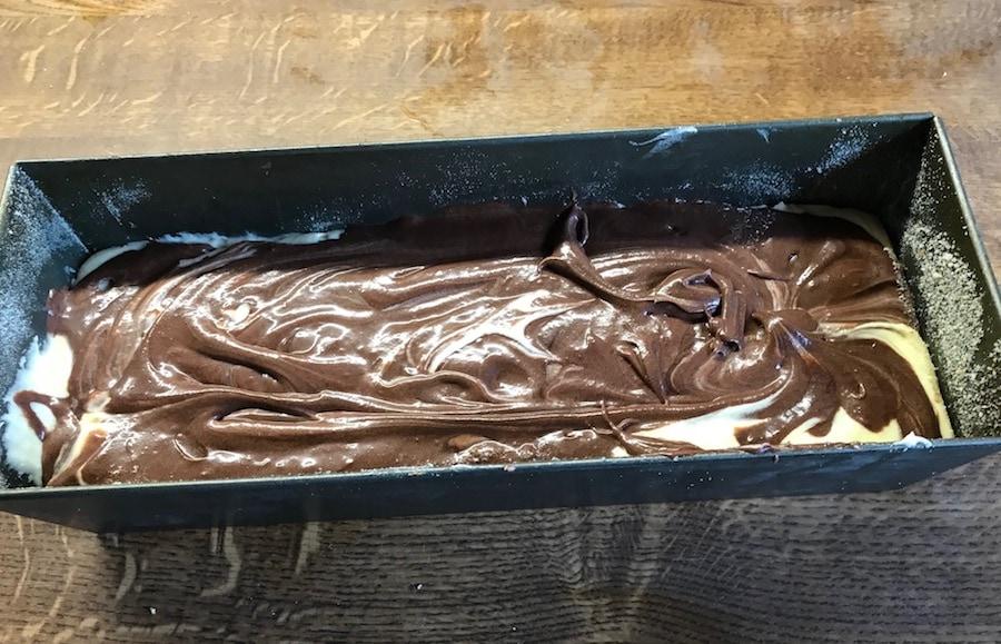 Kuchen mit dem dunklen Teig