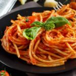 Tomatensauce-spaghetti
