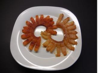 Paprikaspeck gebraten auf dem Teller