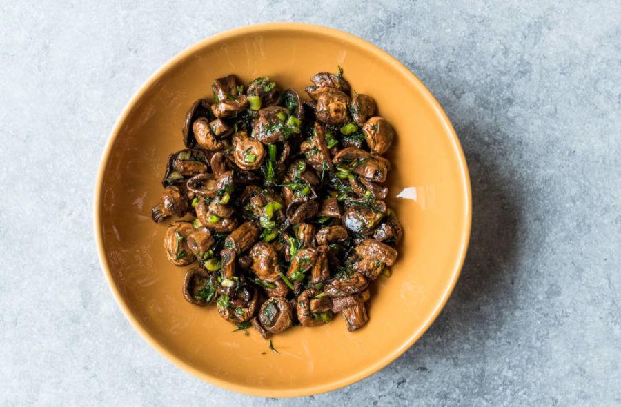 Pilzsalat Rezept schnell und einfach