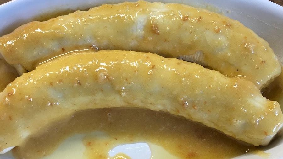 Bananen vorbereitet