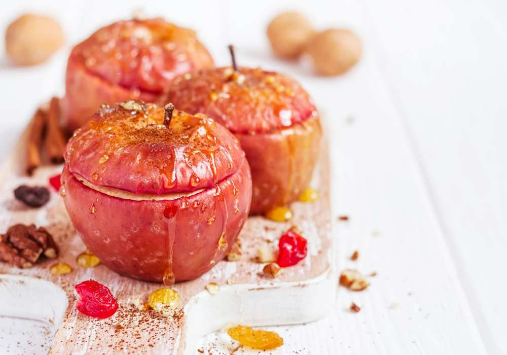 Honigaepfel-gebacken