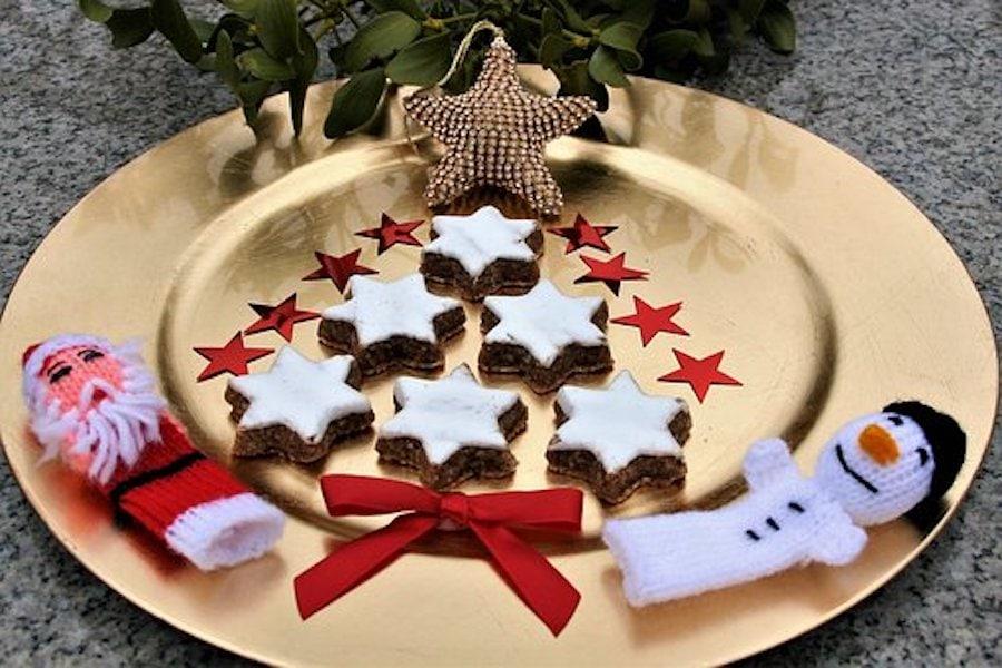 Ingwer-Kekse dekoriert