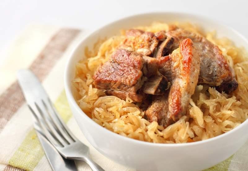 Sauerkraut-poekelrippchen