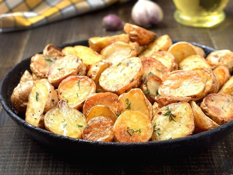 Omas Bratkartoffeln, kalorienarm und knusprig 1