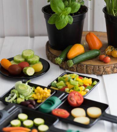 Raclettegrill-racelette-silvester-gemuese