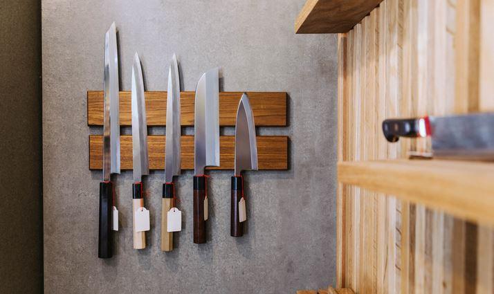 Japanische Messer Magnetwand