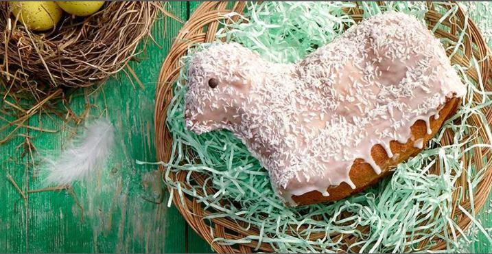 Süsser Osterlamm-Kuchen aus Biskuit-Teig | Oma Kocht
