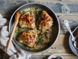 Schnelles Feierabend Hühnen aus dem Ofen Rezept