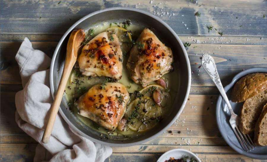 Einfaches Feierabend-Hühnchen aus dem Backofen