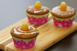 Karotten-Muffins, extra fruchtig
