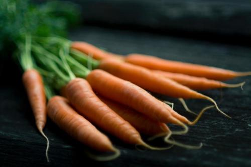 carrots on table