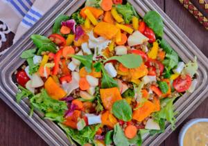 Unser umwerfender Kürbis-Linsen-Salat mit Feta