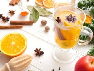 Orangen vanille glühwein