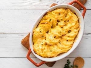 Veganes Kartoffelgratin, cremig und kross