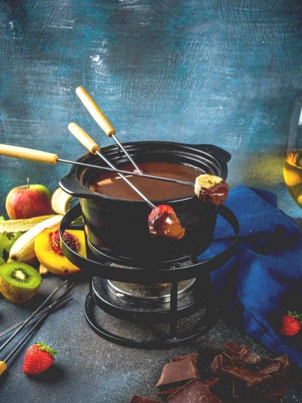 Edel-dunkles Schokoladen-Fondue mit Orange 2