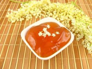 Holunderblütengelee mit Orangensaft