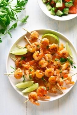 Garnelen-senf-marinade