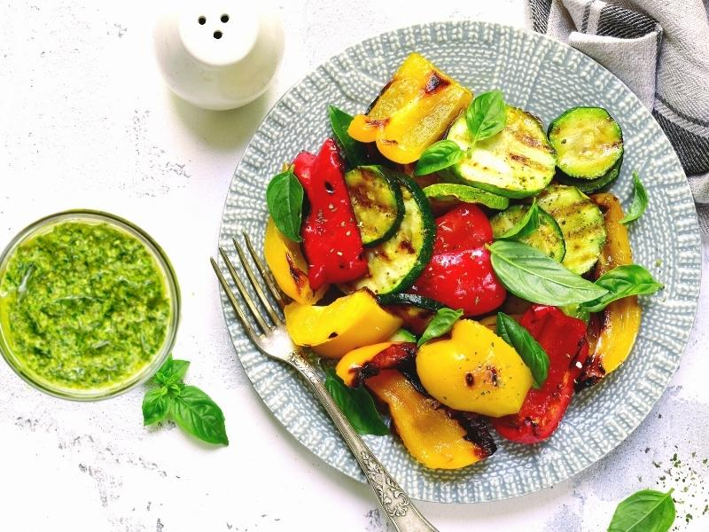 Grillgemüse mit veganem Basilikum-Pesto 1