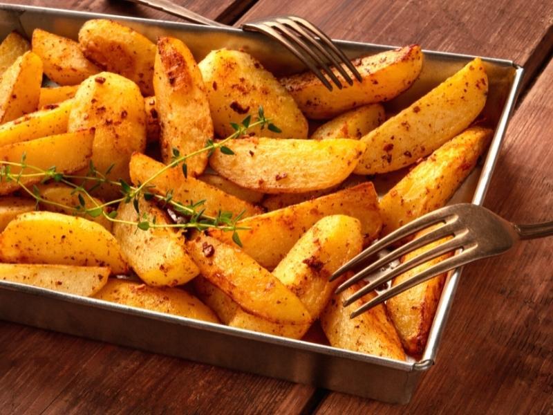 BBQ-Kartoffelecken aus dem Backofen 1